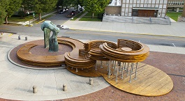 Conversation Plinth in Columbus, IN, USA