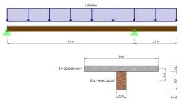 Modellierung eines nachgiebigen Verbundträgers aus Holz als Flächenmodell